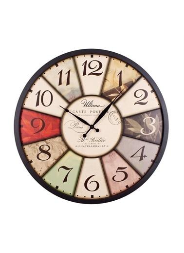 Ultima Regal Ultima Regal Ferforje Büyük Boy Vintage Duvar Saati Renkli